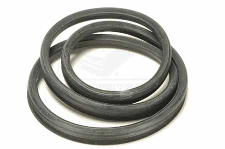 Rear Glass Channel Seal For 1963 To 1965 Ford Falcon And Comet 2 Door Hardtop Models.