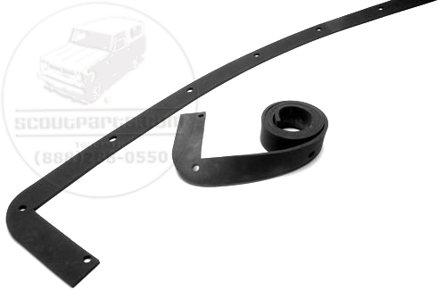 Roof Rail Weatherstripping For 1955-1957 Chevrolet Convertible Top.